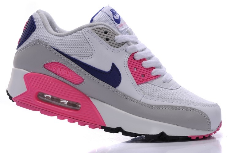 pink grey and white air max